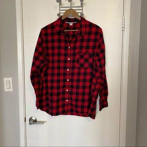 Old Navy Classic Plaid Button Down Shirt